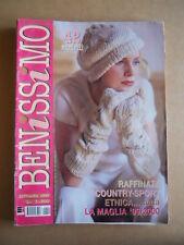 BENISSIMO rivista di lavori Femminili n°9 1999  [G582]