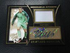 2016-17 Panini Black Gold Cristiano Ronaldo Jersey Autograph Auto Portugal SSP