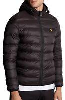 Lyle & Scott Mens Quilt Puffer Jacket Padded Warm Hooded Outdoor Coat True Black