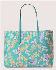 ❤️ Kate Spade New York molly bird party large Green Multi tote