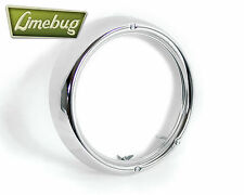 VW Cromato Proiettore RIM HEADLIGHT RING 3 Foro 1967 - 1973 t1 Beetle t2 Bay Bus
