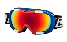 DIRTY DOG SCOPE SKI GOGGLES SNOWBOARDING RED BLUE WHITE CAT 3 FIRE MIRROR LENS