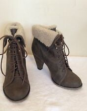 New Look Block Synthetic Leather Lace Up Boots for Women