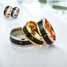 Ring Stainless Titanium Chain Fashion New Smart Temperature Couple Steel Jewelry