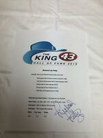 RICHARD PETTY THE KING SIGNED AUTOGRAPHED NASCAR CAREER ACHIEVEMENT SHEET RARE