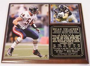 Brian Urlacher #54 Chicago Bears 2000-2013 Retirement Photo Card Plaque MLB