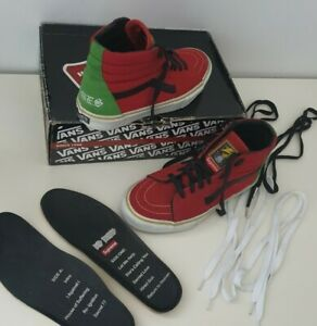 Very rare SS08 Supreme x Bad Brains x Vans Sk8-Hi Red/Green US 8.5 EUR 41 UK 7.5