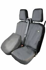 HDD HD Waterproof Tailored Seat Cover fits Ford Transit Custom Driver 2013 in Grey