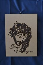 jesus love you wood burning 100% handmade home decoration gift for special days.