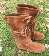 Steger Mukluks Tall Brown Winter Snow Boots Womens Size 8 Moosehide