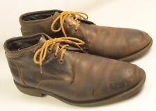 Chukka Boots Men Size 41 Distressed Lace Up Broken In Hipster 11.18