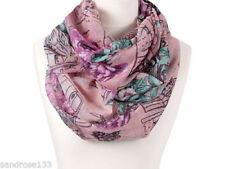Blumen Schlauchschals aus Polyester für Damen
