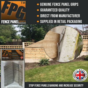 Fence Panel Grips Clips Stop Fence Panels Rattling Anti Rattle 48 Pk (8 Panel)