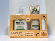 Hempz SENSITIVE Bath & Body Set - Body Moisturizer, Body Wash, & Beauty Bag