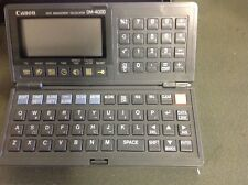 Canon DM-4000 Dafta management calculator in box with instruction booklet.