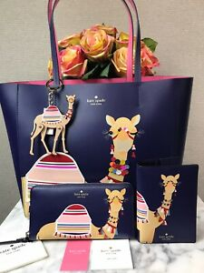 NWT Novelty Kate Spade Spice Things Up Camel BUNDLE Key Chain Bag Charm