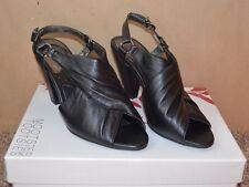 "NEW ~ Mootsies Tootsies Black OPEN TOE Shoes / Size 7-1/2 M / 3-1/2"" Heels CUTE!"