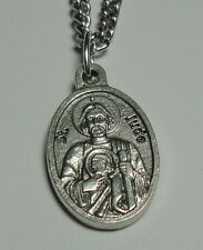 St Jude 3rd Class Relic Holy Medal & Chain Hopeless Causes Desperate Situations!