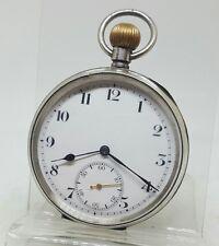 Reloj de Bolsillo Antiguo Plata Maciza Para Caballeros Syren 1918 gwo
