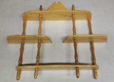 4 teir pine shelf shelving unit display spice rack