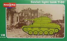 Light Tank T-80, Mikro Mir,1/48, Plastic model kit kit, NEW