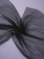 25 % Rabatt:  3 m Chiffon 3.5, reine Seide !,  schwarz, 90 cm breit  (€ 9,52/m)