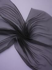30 % Rabatt:  Chiffon 3.5, reine Seide !  schwarz, 305 x 90 cm  (€ 10,50/m)