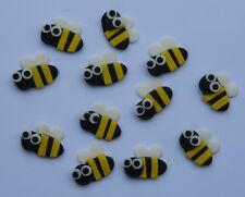 12 edible small BEES cake CUPCAKE topper DECORATION WEDDING birthday GARDEN BEE