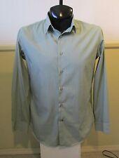 "Men's BANANA REPUBLIC Green ""Slim Fit"" Casual Dress Shirt Size M 15/15.5"