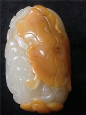natural xinjiang Jade Lotus leaf manual carving Hand play bringing luck