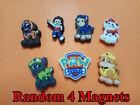 4pcs Funny PVC Fridge Magnets Kids Gift Party Favor Home Decor Paw Patrol Dog