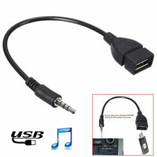 3.5mm Male AUX Audio jack to USB 2.0 Female Converter Cable for Car MP3