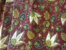 FABULOUS COUNTRY CURTAINS BURGUNDY PAISLY DRAPES (2)SETS ABAILABLE