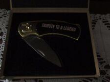 "Dale Earnhardt ""TRIBUTE TO A LEGEND"" #3 Pocket Knife in Original Wood Case New"
