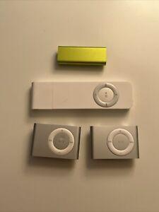 Lot of 4 - Apple iPod Shuffle 1st + 2nd + 3rd Gen - A1112, A1204, A1271 - PARTS