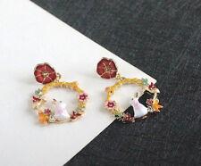 New fashion Beautiful Betsey Johnson cute rabbit&flower earrings BJ
