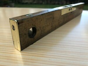 Superb Marples and Sons Brass and Boxwood Vintage Spirit Level & Rule 12 inches