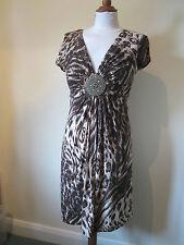Wallis Women's Party Animal Print Dresses Midi