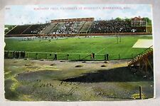 c.1910 #5696 NORTHRUP FIELD University  MINNESOTA Minneapolis football postcard