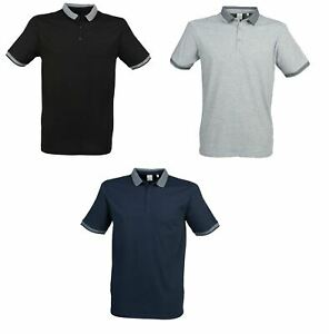 Gent's Cotton Polo Shirt With Jacquard Contrast Collar & Cuffs SF441