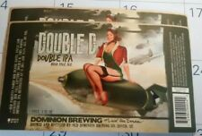 """2- Self Sticking Beer Labels """" Double D """"Brewing"""