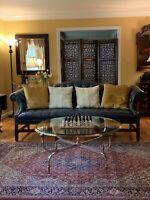 Maison Jansen RARE Nickel & Brass Round Cocktail table Hollywood Regency