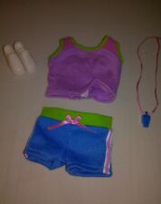 "Dora's Explorer Girls ""Sports Styles"" Tennis Player 4 piece Outfit New by Mattel"