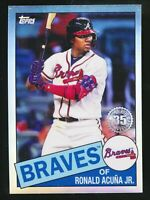 2020 Ronald Acuna Jr Topps Chrome 35th Anniversary Refractor Atlanta Braves #25