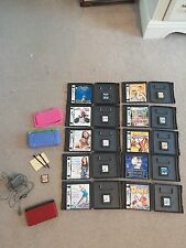 Nintendo DS Lite Crimson & Black Really Nice Condition! Includes 11 games + More