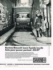 PUBLICITE  1964   RENAULT SAVIEM  poids lourds S5- S7