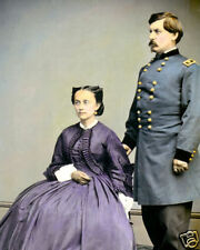 "GENERAL GEORGE McCLELLAN CIVIL WAR 1865 8X10"" HAND COLOR TINTED PHOTOGRAPH"