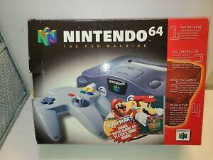 Empty Nintendo 64 N64 Original System Console box W/ Styrofoam ONLY NO CONSOLE