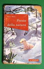 Poesia della natura di Mario Mazza 1^ ed. La Scuola 1962