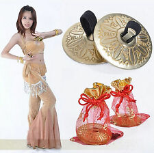Belly Dance Grain Pattern pure Copper Finger Cymbals Zills Jewellery